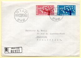 Europa 1962, FdC. Norvège. Oblitération Oslo : 17/09/1962 - Europa-CEPT
