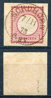 Deutsches Reich Michel-Nr. 19 Vollstempel Auf Briefstück - Geprüft - Gebraucht