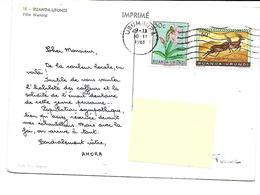 Afrique-RUANDA-URUNDI-Une Vue D'une Fille WATUSTI- -PUB.Collection AMORA-TIMBRE-Obliteration-1961 - Ruanda-Urundi