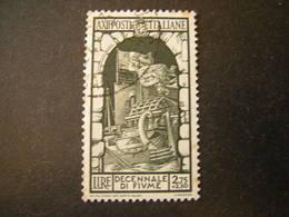 1934 - ANNESSIONE DI FIUME , Sass. N. 356. Usato, TTB,  OCCASIONE - 1900-44 Vittorio Emanuele III