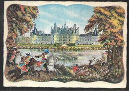 Cpm 4119652 Chambord (scène De Chasse Royale Devant Le Chateau) - Chambord