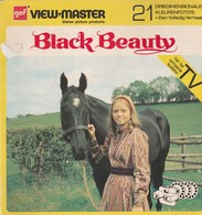 VIEW MASTER 21 Driedimensionale Kleurenfototo's BLACK BEAUTY GAF VIEW MASTER. 1973, Boekje Incl 3 Schijfjes - Stereoscopes - Side-by-side Viewers
