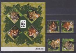 Thailand - 2011 WWF Wildkatzen + Klbg.-Satz - 3 Scans ** - W.W.F.