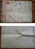 Messtischblatt: Kreis Zossen, DDR - 1970er Jahre / Kellerfund - Landkarten