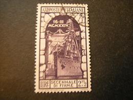 1934 - ANNESSIONE DI FIUME , Sass. N. 355. Usato, TTB,  OCCASION5 - 1900-44 Vittorio Emanuele III