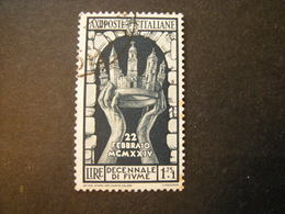 1934 - ANNESSIONE DI FIUME , Sass. N. 354. Usato, TTB,  OCCASIONE - 1900-44 Vittorio Emanuele III