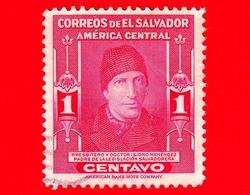 EL SALVADOR - Usato - 1947 - Dr. Isidro Menendez, Scrittore, Sacerdote, Giurista E Politico (1795-1858) - 1 - El Salvador
