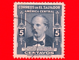 EL SALVADOR - Usato -  1947 - Dr. Francisco Duenas, Politico E Presidente (1810 - 1884) - 5 - El Salvador