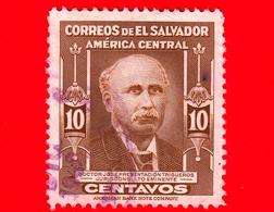 EL SALVADOR - Usato - 1947 - Persone Famose - Doctor José Trigueros - 10 - El Salvador