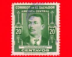 EL SALVADOR - Usato - 1947 - Dr. Salvador Rodriguez Gonzalez, Internazionalista Notabile - 20 - El Salvador
