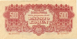 Czechoslovakia, 500 Korun, SPECIMEN, 1944, XA,, Occupation, Ww2, Banknote, Czech, Slovakia, Bohemia, Moravia - Tchécoslovaquie