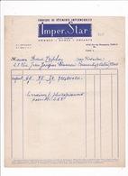 Facture Années 1930 Fabrique De Vêtements Imperméables Imper. Star, Rue Des Messageries, Paris (10e) - France