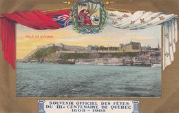 Vintage 1908 - Quebec III Ter-Centenary Centenaire - Souvenir Officiel Des Fêtes - Written - 2 Scans - Québec - La Cité