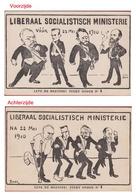 Politieke Satire Karikatuur Politiek  Figuren Emile Vandervelde Liberaal Socialistisch Ministerie 1910 Meeting Beer - Satiriques