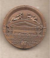 Reggio Emilia - XX Convegno Città Del Tricolore Medaglia In Bronzo -  Prospero Sogari - Scultore E Architetto - 1985 - Italia