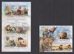 Mocambique - 2011 Einheimische Tiere: Löwe Lion ** - Félins
