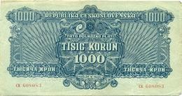 Czechoslovakia, 1000 Korun, SPECIMEN, 1944, CK, Occupation, Ww2, Banknote, Czech, Slovakia, Bohemia, Moravia - Tchécoslovaquie