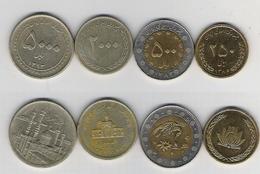 Ehemaliges Persien 250, 500. 2000, 5000 Rials - Coins