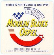 Nederland. Leeuw Bier. Anno 1886. Moulin Blues Ospel. Nederlands Grootste Bluesfestival. 30 April - 1 Mei 1999. Belgium. - Bierviltjes