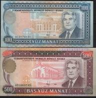 B 127 - TURKMENISTAN 2 Billets De 100 Et 500 Manat De 1995 état Neuf 1er Choix - Turkménistan