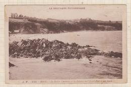 9AL290 Binic, Le Rocher Couturier Et Les Falaises De L'Avant-Port à Mer Haute  2 SCANS - Binic