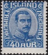 IJsland    .   Yvert     .    109        .    *     .       Omgebruikt Met Plakker    .   /    .   Mint-hinged - 1918-1944 Autonoom Bestuur