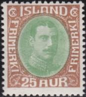 IJsland    .   Yvert     .   91          .    *     .       Omgebruikt Met Plakker    .   /    .   Mint-hinged - 1918-1944 Autonoom Bestuur
