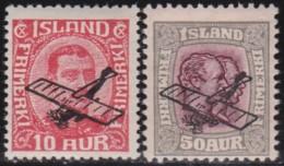 IJsland    .   Yvert     .   Lucht  1/2    .   *  .       Ongebruikt Met Plakker    .   / .   Mint-hinged - Poste Aérienne