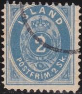IJsland    .   Yvert       .    1  .  Stempel ?  ( 2 Scans )      .    O     .    Gebruikt     .   /    .   Cancelled - 1873-1918 Dänische Abhängigkeit