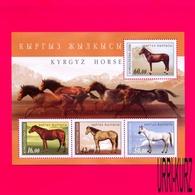 KYRGYZSTAN 2009 Nature Fauna Domestic Farm Animals Horses S-sheet Mi Bl.53(575-578) MNH - Kyrgyzstan