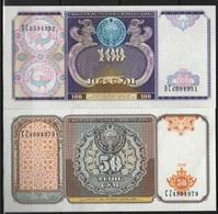B 129 - OUZBEKISTAN 2 Billets De 50 Et 100 Cÿm  état Neuf 1er Choix - Uzbekistán