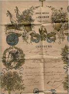 CHINON- Comices Agricoles -Concours De Langeais- 1865-recompense-(san En 2 Parties) - Diplômes & Bulletins Scolaires