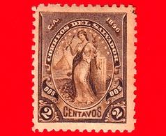 EL SALVADOR - Usato - 1896 - Serie Pace - Peace - 2 C. - El Salvador