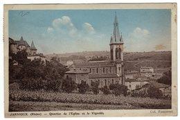 69-JARNIOUX- (Rhône) -Quartier De L'Eglise Et Le Vignoble-CPA -recto-verso - France