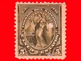 EL SALVADOR - Usato - 1896 - Serie Pace - Peace - 5 C. - El Salvador