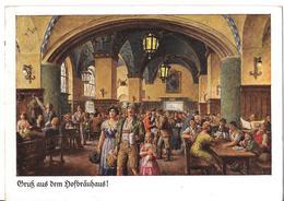 MÜNCHEN - Gruss Aus Dem Hofbrauhaus - 1937 - Cafés