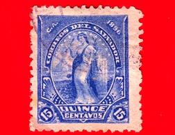 EL SALVADOR - Usato - 1896 - Serie Pace - Peace - 15 C. - El Salvador