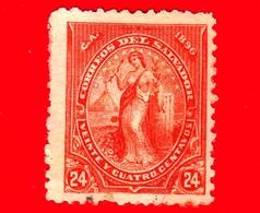 EL SALVADOR - Usato - 1896 - Serie Pace - Peace - 24 C. - El Salvador