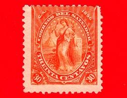 EL SALVADOR - Usato - 1896 - Serie Pace - Peace - 30 C. - El Salvador
