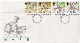 Great Britain Set On FDC - Geography