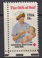 USA 1981 The Gift Of Self / Red Cross 1v (corner) ** Mnh (41802A) - Verenigde Staten