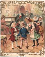 Figurina, Chromo, Victorian Trade Card. Au Bon Marché. Le Bal Costumé. Ver 3-1 - Au Bon Marché