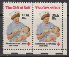 USA 1981 The Gift Of Self / Red Cross 1v (pair) ** Mnh (41802B) - Verenigde Staten