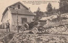 Carte Postale Ancienne De La Savoie - Route De Chambéry à Novalaise - Le Refuge-Hôtel Du Mont Lépine - Joli Plan D'autom - Sonstige Gemeinden