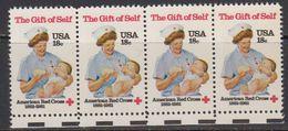 USA 1981 The Gift Of Self / Red Cross 1v (strip Of 4) ** Mnh (41802C) - Verenigde Staten