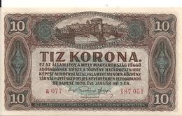 HONGRIE 10 KORONA 1920 UNC P 60 - Ungarn
