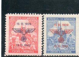BOHEME ET MORAVIE 1942 ** - Bohême & Moravie