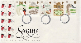 Great Britain Set On FDC - Cygnes