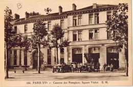 PARIS XV  Caserne Des Pompiers . Square Violet - Arrondissement: 15