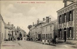 Cp Jonchery Sur Vesle Marne, Route Nationale, Straßenpartie, Anwohner, Gebäude - France
